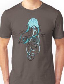 Abstract Blue Cartoon Jellyfish Unisex T-Shirt