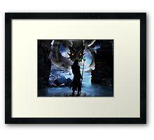 Loki and Jormungandr Framed Print