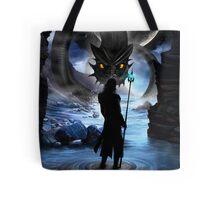 Loki and Jormungandr Tote Bag