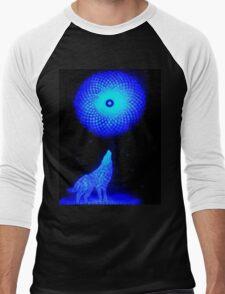 Fractal Moon Cry Men's Baseball ¾ T-Shirt