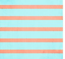 Two Tone Stripes (Coral/Blue) by danibourland
