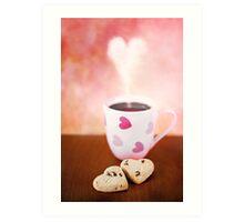 valentine biscuits.. Art Print