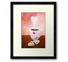 valentine biscuits.. Framed Print