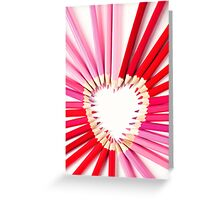 pencil heart.. Greeting Card