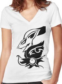 Zoroark Women's Fitted V-Neck T-Shirt