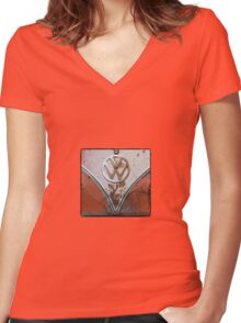 VW Determined  Women's Fitted V-Neck T-Shirt