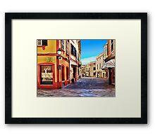 Street Corner, Ciutadella Framed Print