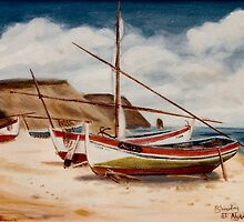 Fishing Boats, Algarve by Woodie