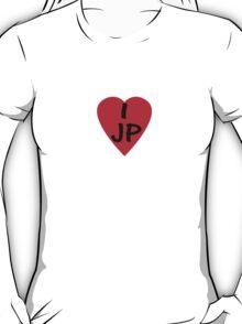 I Love Japan - Country Code JP T-Shirt & Sticker T-Shirt