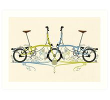 Brompton Bicycle Art Print