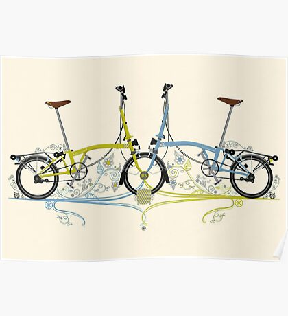 Brompton Bicycle Poster
