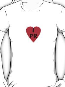 I Love PR - Country Code PR T-Shirt & Sticker T-Shirt