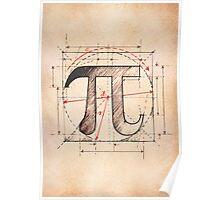 Pi Symbol Sketch Poster