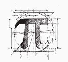 Pi Symbol Sketch by SymbolGrafix