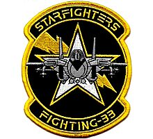VFA-33 Starfighters Patch Photographic Print