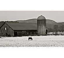 Vermont Snow Scene Photographic Print