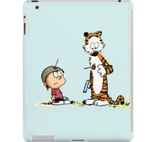 Calvin & Hobbes (dart war games edition) iPad Case/Skin