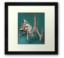 Kitten and Space Rocket Framed Print