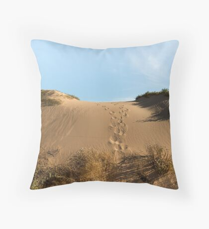 Chasing Kangaroos Throw Pillow