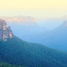 Govetts Leap, Blue Mountains, New South Wales, Australia by Michael Boniwell
