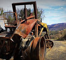 Bob's tractor after the inferno by myraj