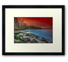 Binstead Beach sunset Framed Print