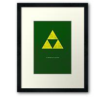 Zelda Minimalist Poster Framed Print