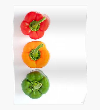 traffic light peppers Poster