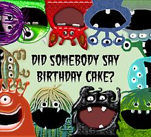 Monster Birthday Card or Birthday Party invitation by Amy Hadden