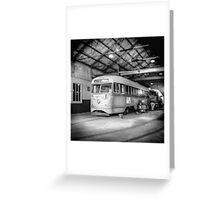 Vintage Streetcar Trolley 2569 Greeting Card