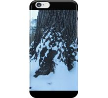 Snowy Tree Trunk iPhone Case/Skin