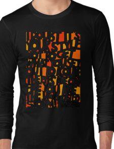 Brianstorm Bridge - Orange & Yellow Long Sleeve T-Shirt