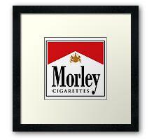 Morley Cigarettes Framed Print