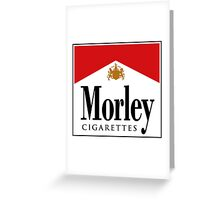 Morley Cigarettes Greeting Card