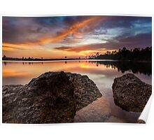 The Light at Pine Glades Lake Poster