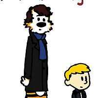 Calvin and Hobbes Sherlock Parody by TheIndoorCat