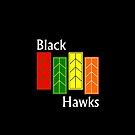 Black Hawks Phone Case by mightymiked