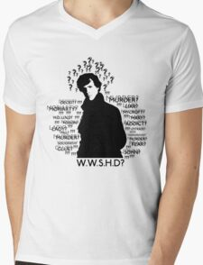WHAT WOULD SHERLOCK HOLMES DO Mens V-Neck T-Shirt