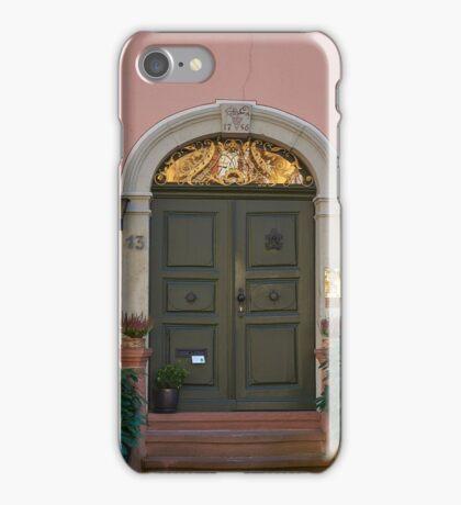 Burkheim, Kaiserstuhl - door detail iPhone Case/Skin