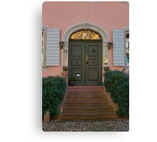 Burkheim, Kaiserstuhl - door detail Canvas Print