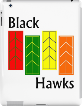Black Hawks iPad Case by mightymiked