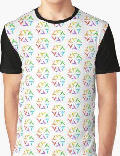 Hummingbird Color Wheel Graphic T-Shirt