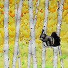 Black Squirrel in Aspens by StephenLTurner