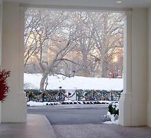 Snowy entrance by nutty1kel