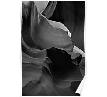 Lines in Slot Canyon Poster