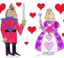 Horse King and Queen of Hearts by SeaSerpent