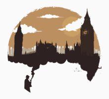 Sherlock smoking up London by jasebloordesign