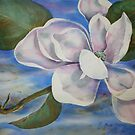 Watercolour: Magnolia Floating by Marion Chapman