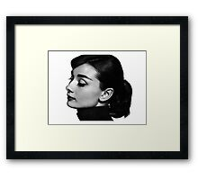 Audrey Profile Framed Print