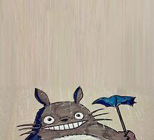 Totoro in the Rain by KeppitPhish